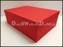Pudło na prezent ozdobne czerwone