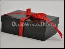 Czarne pudełka na bieliznę, pudełko na apaszkę