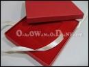 Czerwone pudełko na kartę rabatową