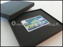 Czarne pudełko ozdobne na kartę, pudełka na voucher