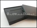 Czarne pudełko ozdobne na kartę, pudełko na voucher