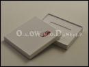 Białe pudełko ozdobne na kartę podarunkową