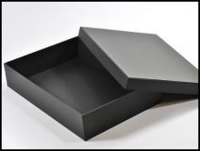 Pudełka ozdobne na koszule - czarne