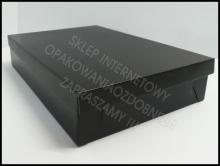 Czarne pudełko ozdobne na koszule