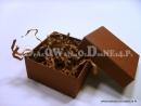 Brązowe pudełko ozdobne na prezent
