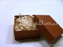 Brązowe pudełka ozdobne