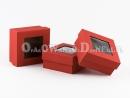 Pudełko ozdobne - czerwone z okienkiem