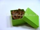 Zielone pudełka ozdobne na prezenty