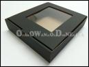 Czarne pudełka ozdobne na bieliznę