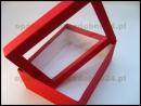 Czerwone opakowania z okienkiem