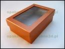 Pudełko z okienkiem - pomaranczowe