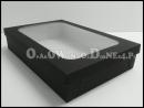 Czarne pudełko na koszule z okienkiem