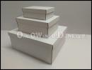 Biały zestaw pudełka na prezent