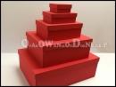 Pudełka ozdobne zestaw - czerwony