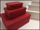 Pudełka ozdobne bordowe, pudełko w pudełku