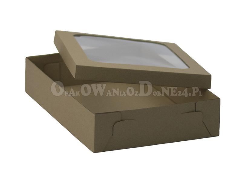 Pudełka z okienkiem, eko pudełko na dzież, pudełko z szybką