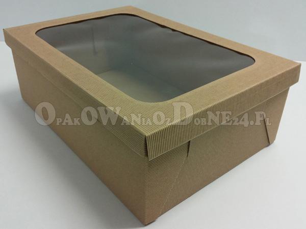 Pudełka z okienkiem, eko pudełko na dzież, pudełko z szybką, pudełka na paczki