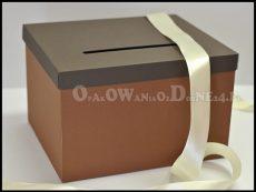 Pudełko na koperty brązowe