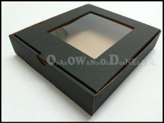 czarne pudełko ozdobne na bieliznę - z okienkiem