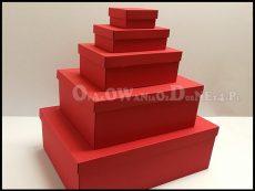 Pudełka na prezenty - czerwone