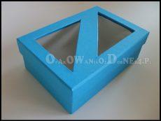 Opakowania ozdobne z okienkiem - niebieskie