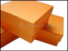 Pudełko ozdobne perłowe pomaranczowe